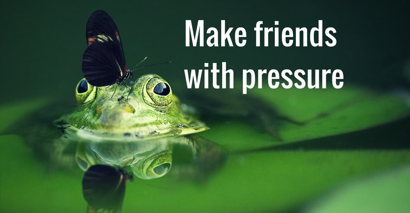 Reduce music performance anxiety by making friends with pressure