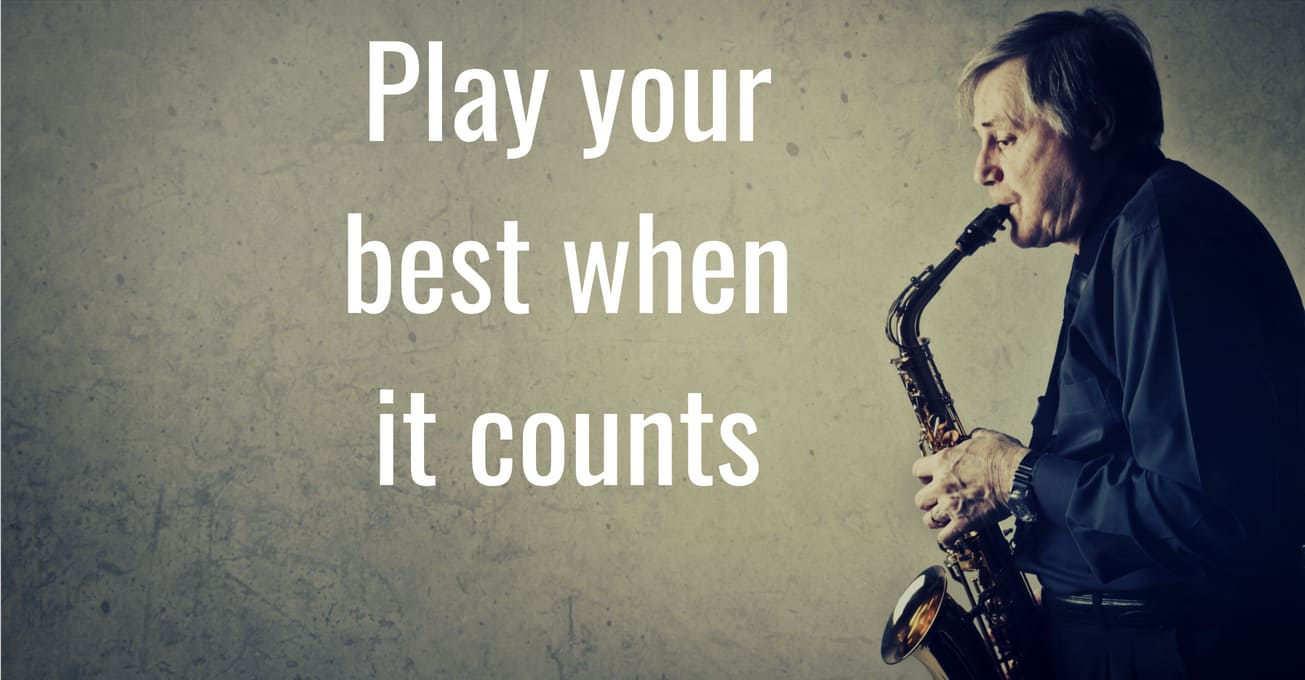 Ditch the frustration that comes with playing better in practice than performance by learning to play your best when it counts